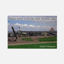 Duluth North & South Pierhead Lights Magnets