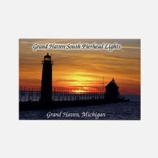 Grand Haven South Pierhead Lights Sunset Magnets