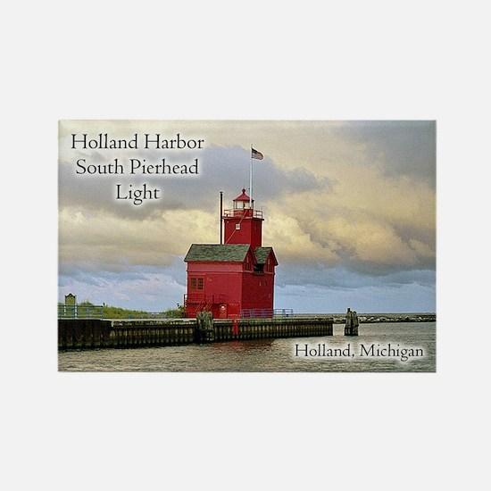 Holland Harbor South Pierhead Light Magnets