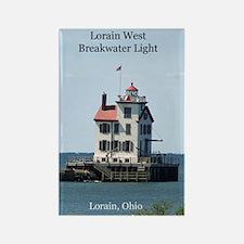 Lorain West Breakwater Light Magnets