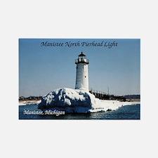 Manistee North Pierhead Light Winter Magnets