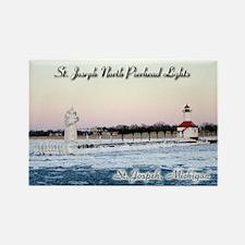 St Joseph North Pierhead Lights Winter Magnets