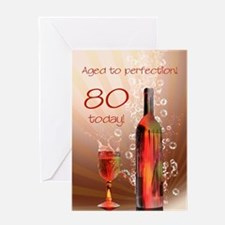 80th birthday. Aged to perfection with wine splash