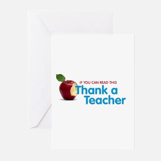 Thank a Teacher Greeting Cards