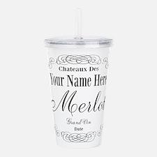 Merlot Label Acrylic Double-wall Tumbler