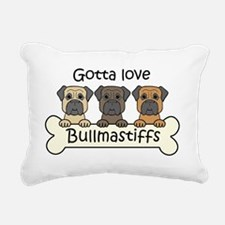 Cute Bull mastiff christmas Rectangular Canvas Pillow
