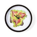 Pink w/ Ruffles Daylily Wall Clock