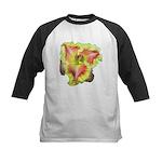 Pink w/ Ruffles Daylily Kids Baseball Jersey