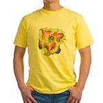 Pink w/ Ruffles Daylily Yellow T-Shirt
