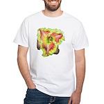 Pink w/ Ruffles Daylily White T-Shirt