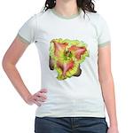 Pink w/ Ruffles Daylily Jr. Ringer T-Shirt