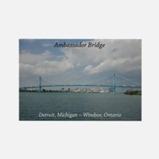 Ambassador Bridge Detroit, Mi Magnets