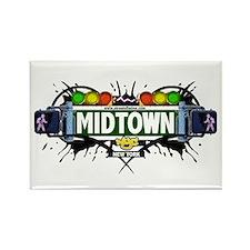 Midtown (White) Rectangle Magnet