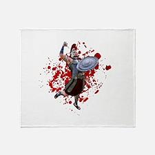 Blood Knight Throw Blanket