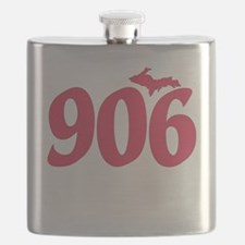 906 Yooper UP Upper Peninsula - Pink - Flask