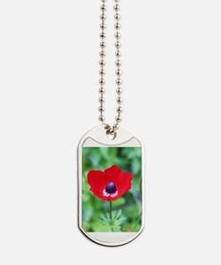 Cute Red flower Dog Tags