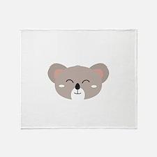 Happy Koala head Throw Blanket