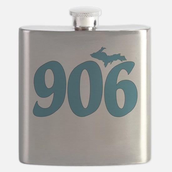 906 Yooper Blue Flask