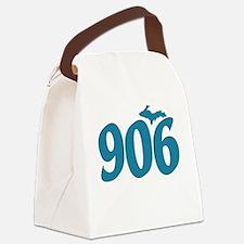 906 Yooper Blue Canvas Lunch Bag