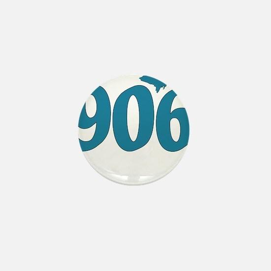 906 Yooper Blue Mini Button