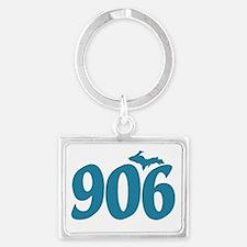 906 Yooper Blue Landscape Keychain