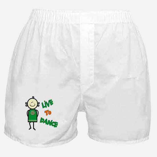 Irish Stepdancer-Live To Dance Boxer Shorts
