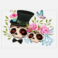 Cute Sugar skulls Wall Art