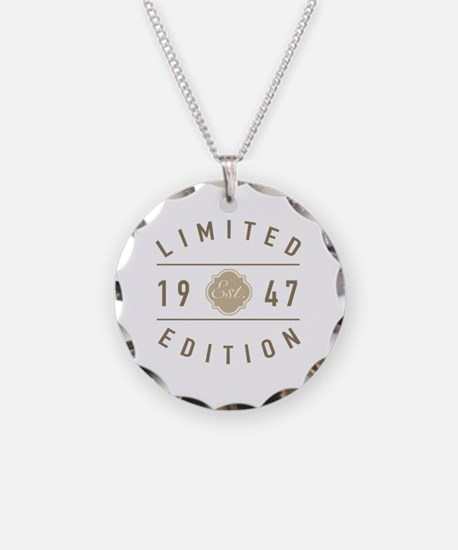 Unique 70th birthday Necklace Circle Charm