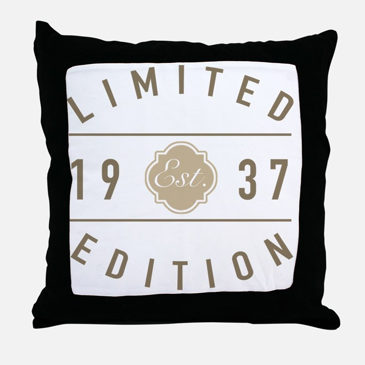 Cute 80 year olds Throw Pillow