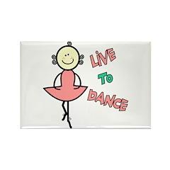 Ballet Live To Dance Rectangle Magnet (10 pack)