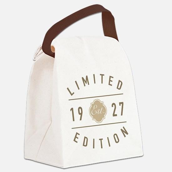 90th birthday Canvas Lunch Bag