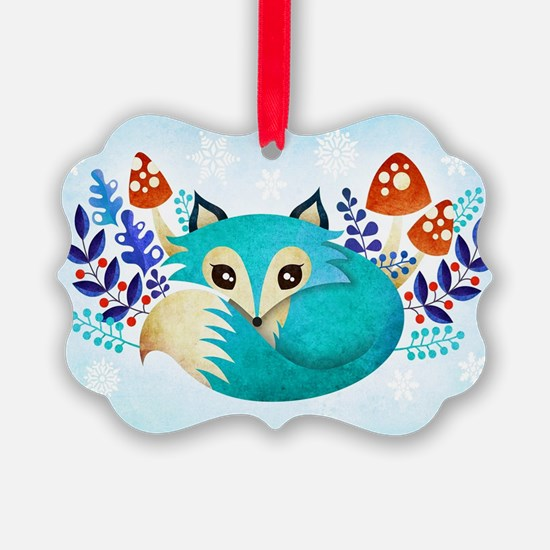 Cute fox Ornament