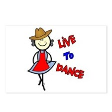 Squaredancing-Live To Dance Postcards (Package of