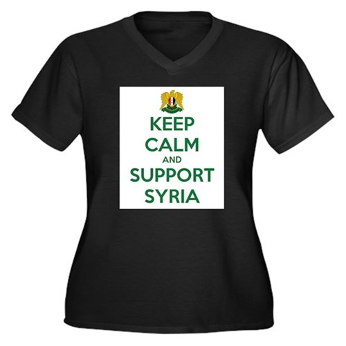 KEEP CALM AND SUPPORT SYRIA Plus Size T-Shirt