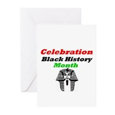 Celebration Black History Month  Greeting Cards (P