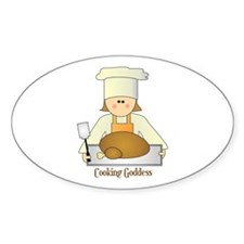 Cooking Goddess Oval Decal