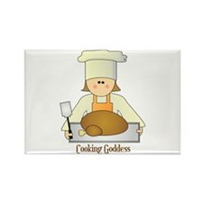 Cooking Goddess Rectangle Magnet (100 pack)