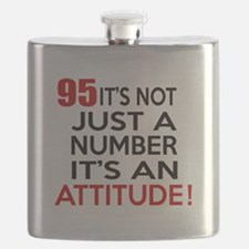 95 It Is Just A Number Birthday Designs Flask
