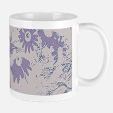 Purple Coneflower with Grey Background Mugs