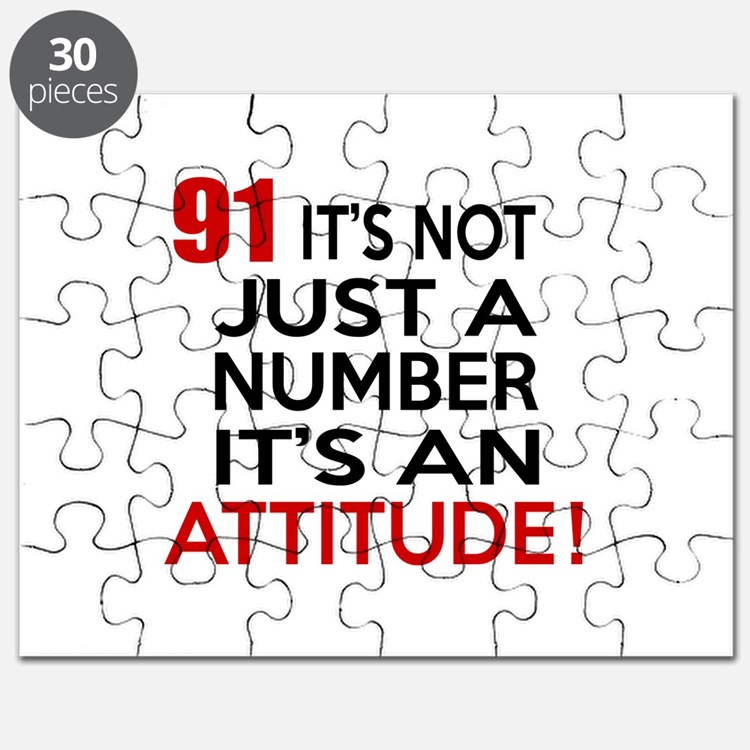 91 It Is Just A Number Birthday Designs Puzzle
