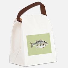 Striper Canvas Lunch Bag