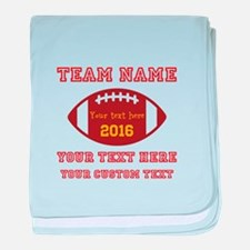 Football Personalized baby blanket