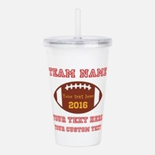 Football Personalized Acrylic Double-wall Tumbler
