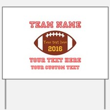 Football Personalized Yard Sign