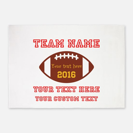 Football Personalized 5'x7'Area Rug
