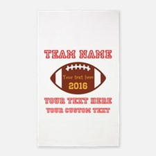 Football Personalized Area Rug