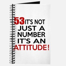 53 It Is Just A Number Birthday Designs Journal
