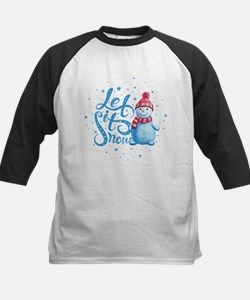 Let It Snowman Kids Baseball Jersey