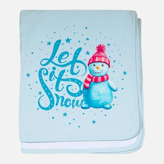 Let It Snowman baby blanket