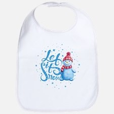 Let It Snowman Bib